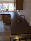 Hand finished Bushboard Encore worktop installation